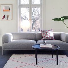"""Regram from our buddies in the north at HAY House Oslo featuring the Bjørn Sofa, Serve Table and Pion Light. #HAY #WrongforHay #HayDesign @haynorge"""