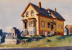 Edward Hopper Watercolor | Edward Hopper. House in Italian Quarter, 1923. Watercolor on paper. 19 ...