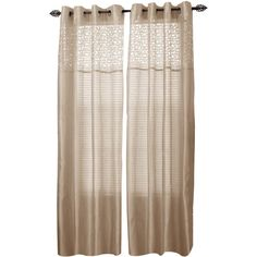 Cambridge Home Monica Grommet-Top Curtain Panel ($24) ❤ liked on Polyvore featuring home, home decor, window treatments, curtains, grommet draperies, polyester curtains, grommet drapery panels, grommet curtains and grommet window panels