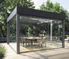 Solarlux: Casa del cristal de la plano-azotea de Carré del atrio - SOLARLUX - News y comunicados de prensa