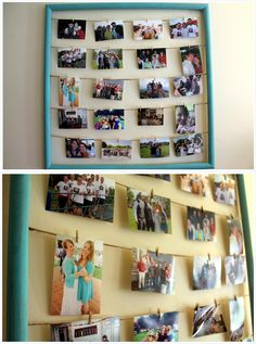diy photo frame - good for the kitchen!