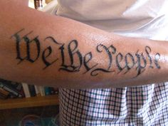 Image Detail for - We The People tattoo