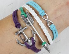 arrow braceletanchor braceletinfinite by lifesunshine on Etsy, $7.99