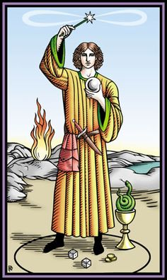 The Magician from Tarot of the Sevenfold Mystery