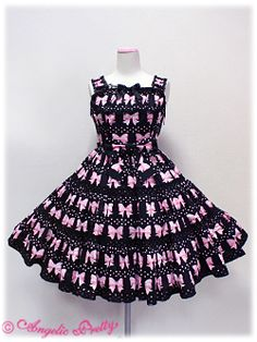 Angelic Pretty / Jumper Skirt / Marchen Ribbon Tiered JSK