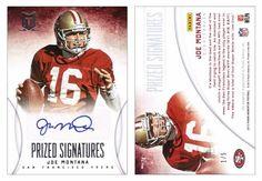 Joe Montana 2013 Panini Momentum 24 Prized Signatures (AU) (#1/5)