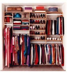 Organization Bedroom Wardrobe - 46 Clever Hanging Wardrobe to Storing Your Outfit. Wardrobe Organisation, Wardrobe Storage, Closet Storage, Bedroom Storage, Home Organization, Clothing Storage, Closet Shelving, Organizing Ideas, Organizing Life