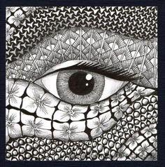 zentangle doodle eye  KunstKramKiste für alle kreativen Seelen mit einer gesunden Neugier