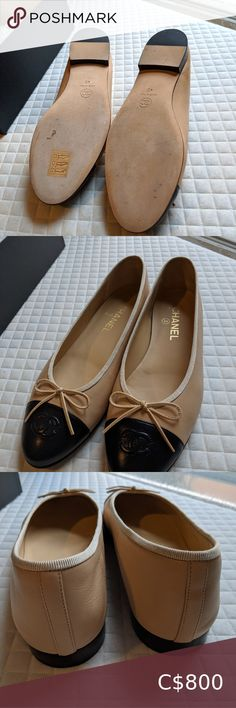 Chanel flat size 40 New pair only tried indoor. Its size 40 but will fit size 9 US CHANEL Shoes Flats & Loafers Chanel Loafers, Chanel Shoes Flats, Chanel Espadrilles, Leather Ballet Flats, Leather Loafers, Chanel Ballerina Flats, Christian Louboutin So Kate, Vintage Chanel, Indoor