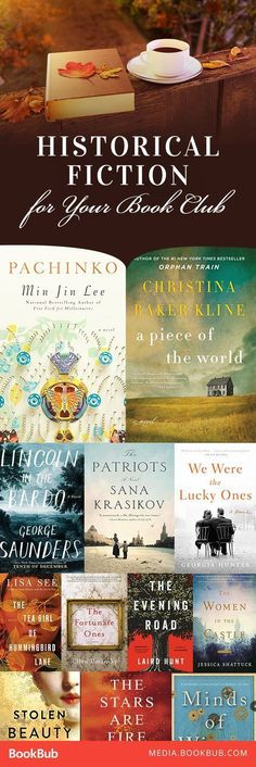 15 historical fiction books for book clubs, including great WWII novels. #FictionBooks