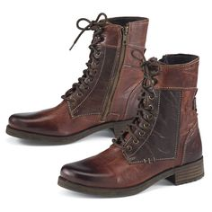 Cognac Leather Laced Boots - Women's Clothing & Symbolic Jewelry – Sexy, Fantasy, Romantic Fashions