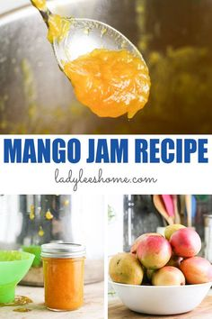 Mango jam is very easy to make! This low sugar mango jam requires only a few ingredients and cook pretty quickly. It's delicious and also easy to can.   #mangojam #lowsugarjam #howtomakejam #mangorecipes Mango Recipes, Jelly Recipes, Jam Recipes, Lemon Seeds, How To Make Jelly, Mango Jam, Marmalade Recipe, Fruit Preserves, Few Ingredients