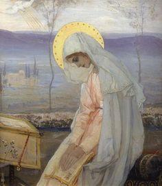 Annunciation (diptych) by Mikhail Nesterov