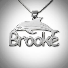What a truly sweet Dolphin Name Necklace Comic Font in .925 Silver 18 inches in length. Absolutely a precious piece. Please allow 14 day delivery as this is especially made just for you !  14 Day Return Policy only if item is defective broken or error.   Once it is shipped you will be emailed...