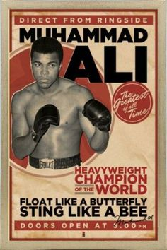 Muhammad Ali - Like A suspended butterfly, sting like a bee - buy online with 1art1 - Posters