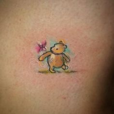 Delicate and beautiful tattoos inspired by children's books - Winnie the Pooh tattoo - Pretty Tattoos, Beautiful Tattoos, Cool Tattoos, Tatoos, Sweet Tattoos, Anime Tattoos, Home Tattoo, Disney Tattoos, Peter Rabbit Tattoos