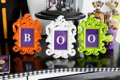 Boo! Frame holiday catch-phrases like this for a quick and easy display.