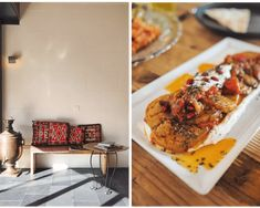 AFGHANISCHER Restaurant Design, Biryani, Waffles, Breakfast, Rice Dishes, Marinated Beef, Crack Bread, Waffle