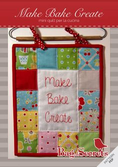 PDF Mini Quilt Pattern for the kitchen. Make bake by BagOfSecrets, $8.00