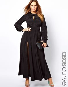 Maxi Dress With Bell Sleeve, Asos Curve ($115.69)