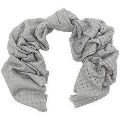 Kinross Grey Open Weave Scarf ($215) via Polyvore featuring accessories, scarves, grey, fringed shawls, cashmere shawl, cashmere scarves, gray scarves and grey shawl