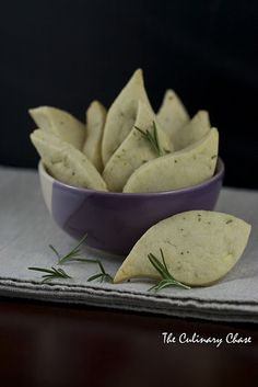 Stilton and Rosemary Shortbread. I HAVE to make this for my husband.