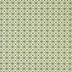 "Green Kitchen Flower Print Italian Paper ~ Carta Varese Italy Item #: IPV806G  1 sheet measuring 19.5"" x 13.5"" of kitchen flower print paper in green."