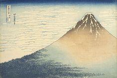 """Les estampes d'Hokusai présentées au public jusqu'au 10 décembre au Musée Guimet à Paris dont la célèbre """"Sous la vague"""""""