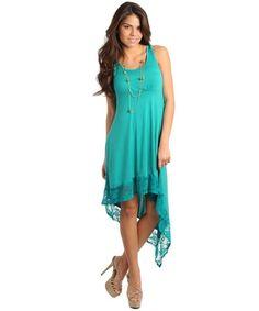 $34.99 Womens Small Medium or Large Dress NEW High Low Dress Emerald Peach or Black