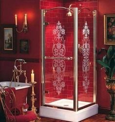 Modern Gothic Bathroombe sure to check us out on Fb www.Facebook.com/uniqueintuitions1 #uniqueintuitions #gothic #bathroom #gothicbathroom