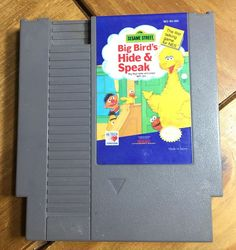 Nintendo NES Sesame Street Big Bird's Hide & Speak Game Cartridge #Nintendo