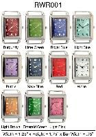 6 Rectangle Solid Bar Watch Faces - 6 Watches/Unit