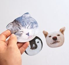Mark's Big Face Animal Stickers, so cute!