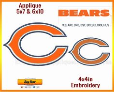 Chicago Bears - NFL Sports Team Logo | Sizes fitting 4x4in, 5x7in and 6x10in hoops - only on Embroidery Applique Designs #EAD! Buy now! https://www.embroiderystockdesigns.com/embroidery-design/chicago-bears-nfl-sports-team-logo-sizes-fitting-4x4in-5x7in-and-6x10in-hoops/  Stay in the loop about our latest arrivals and deal you just can't afford to miss! https://www.embroiderystockdesigns.com/  A huge range of #embroidery #stockdesigns right on #EmbroideryStockDesigns #ESD