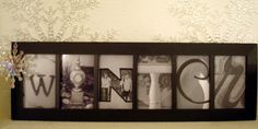 ~ picture letters framed ~