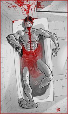 Deadpool in bathroom Marvel Comic Universe, Comics Universe, Marvel Dc Comics, Marvel Cinematic Universe, Marvel Avengers, Deadpool Und Spiderman, Deadpool Love, Deadpool Art, Deadpool Stuff