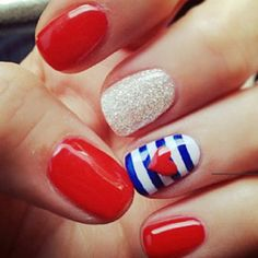 Patriotic  i love red, white and blue