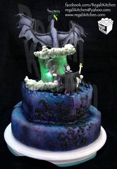 Maleficent Cake. #cake #Disney #maleficiant #sleepingbeauty