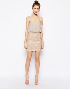 Enlarge ASOS Sequin Skirt Cami Dress
