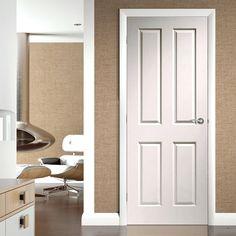 Bespoke Victorian Oak Fire Door without Raised Mouldings - Hour Fire Rated - Prefinished - Lifestyle Image. Oak Fire Doors, Oak Doors, Panel Doors, Wooden Doors, Door Fittings, Classic Doors, Flush Doors, Oak Panels, Shaker Doors