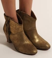 gold boots - I love these!
