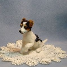 Needle felted dog