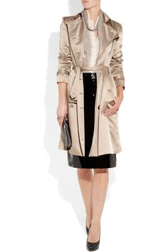 BURBERRY LONDON  Silk crepe de chine trench coat