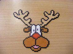 Christmas Rudolf deer hama perler beads by ki-vi