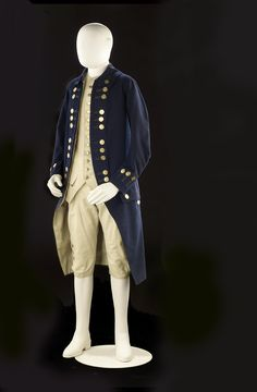 """1774-1787 British Naval captain's coat at the National Maritime Museum, London - From the curators' comments: """" An undress coat for a captain of over three years seniority. It is made of blue wool fabric with a felted finish and features button back lapels. The rank of the wearer is indicated by the groupings of the buttons on the lapels. In this case, the 12 buttons on each lapel are arranged in groups of three which indicates the rank of a captain with over three years seniority."""""""