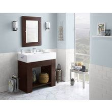 "View the RonBow 031423 Zenia 23"" Wood Vanity Cabinet with Bottom Shelf and Accessory Drawer at FaucetDirect.com."