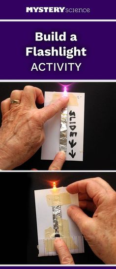 Flashlight Activity - free hands-on science activity for or grade elementary kids. Part of a complete unit on Energy: Energy, Motion, & Electricity. Meets Next Generation Science Standards (NGSS). Preschool Science, Science Classroom, Teaching Science, Science For Kids, Science Fun, Physical Science, Earth Science, Science Cells, Science Models