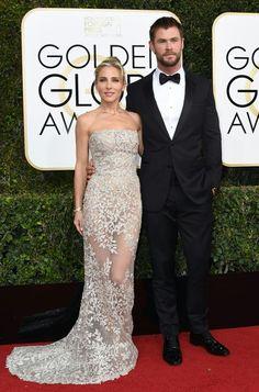 Elsa Pataky y Chris Hemsworth (AFP PHOTO / VALERIE MACON/APF)