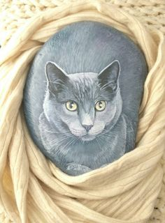Large painted rocks-cats, realistic pet portrait, memorial on a Cat Painting, Art Painting, Cat Art, Rock Painting Art, Painting, Art, Painting Crafts