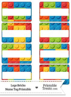 Etiquetas para imprimir de Lego